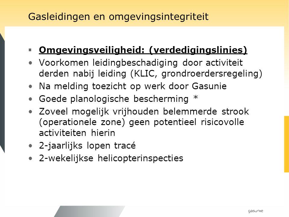 Contacten Gasunie en bevoegde gezagen Gasunie Het Bevoegd Gezag NL PG Arbeidsinspecties (6) (1) Brandweer (483) (25) Brandweer regionaal(25) (1) DCMR(1) (0) Financiën Domeinen(1) (1) EZ (1) (1) Gemeente (487) (25) LNV(1) (1) OCW(1) (1) Pro Rail(*)(1) (1) Provincies(12) (1) Rijkswaterstaat (regionaal)(10) (1) SodM(1) (1) SZW(1) (1) Waterschap (27) (1) VROM(1) (1) VROM-Inspectie(5) (1) V&W(1) (1) V&W-Inspectie (1) (1) (* gedelegeerde bevoegdheid V&W) Arbo Compressorstation Exportstation Externe Veiligheid Gasontvangstation Hoofdkantoor Kantoren Leidingen Nieuwbouw Meet- en regelstation Milieu Rapportage Ruimtelijke Ordening Straling Veiligheid Vergunningen ………