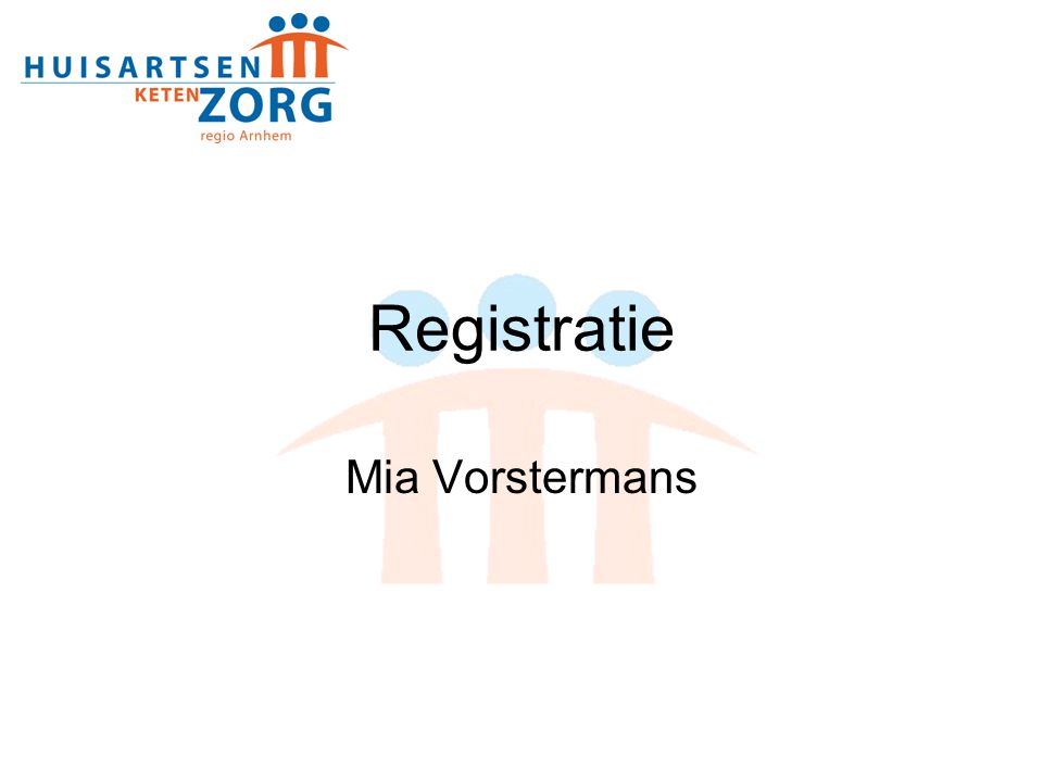 Registratie Mia Vorstermans