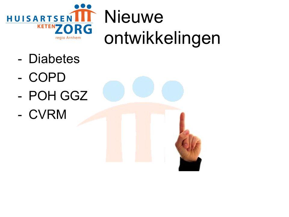 Diabetes -Diabetes contract tot eind 2011 -Aantal gedeclareerde patiënten: 15.974 -Nieuwe medisch adviseur: Marlies van den Berg
