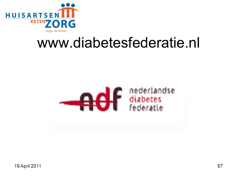 www.diabetesfederatie.nl 19 April 201157