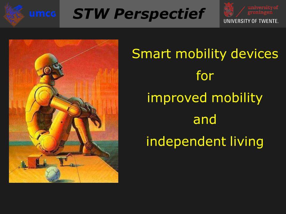 STW-Perspectief Doelstelling Oplossen van innovatie-knelpunten Ontwikkelen van nieuwe technologie Multidisciplinaire aanpak Samenwerking met gebruikers Medefinanciering door private partijen Valorisatie en ondernemerschap Vernieuwende kennis tot toepassing brengen