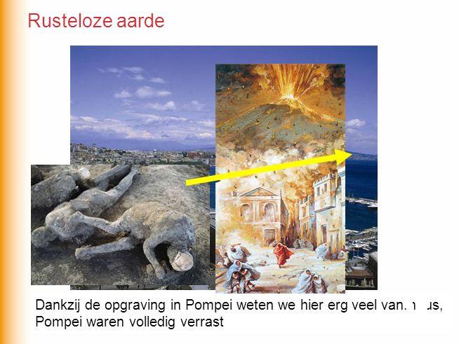 Rusteloze aarde De miljoenenstad Napels ligt op nog geen 10km van de Vesuvius, niemand lijkt zich zorgen te maken… Toch ging het in 79 na Chr.
