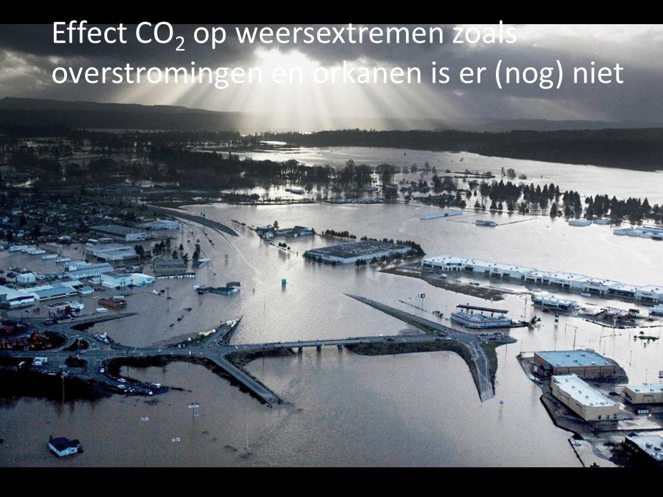 Effect CO 2 op weersextremen zoals overstromingen en orkanen is er (nog) niet