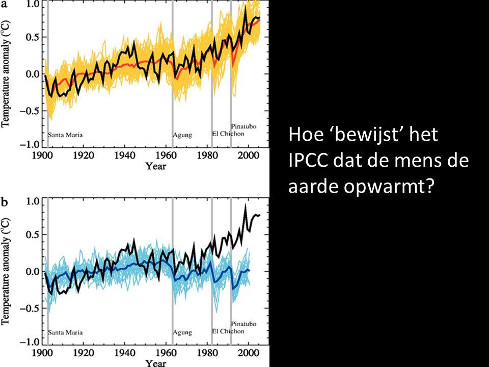 Hoe 'bewijst' het IPCC dat de mens de aarde opwarmt?
