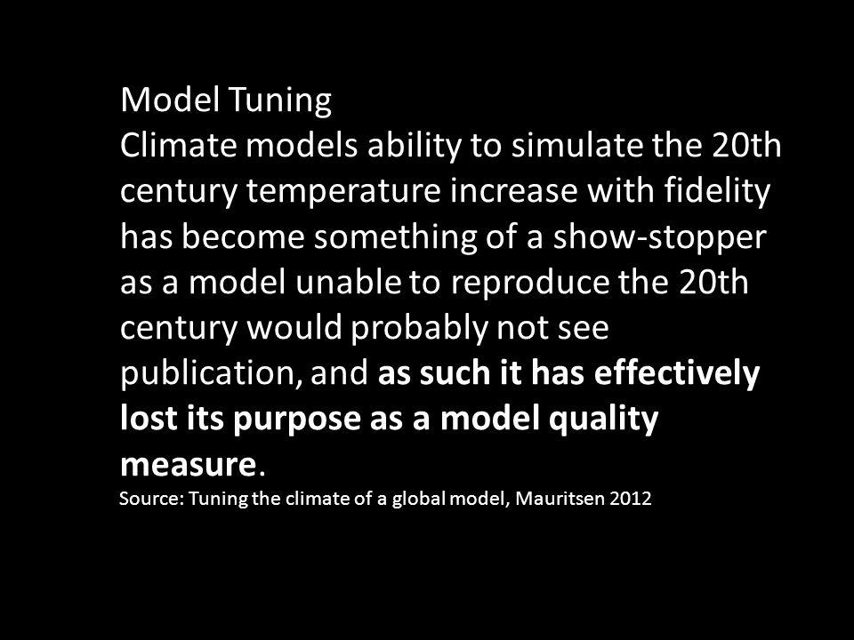 De opwarming stagneert... Modellen geven dit niet aan
