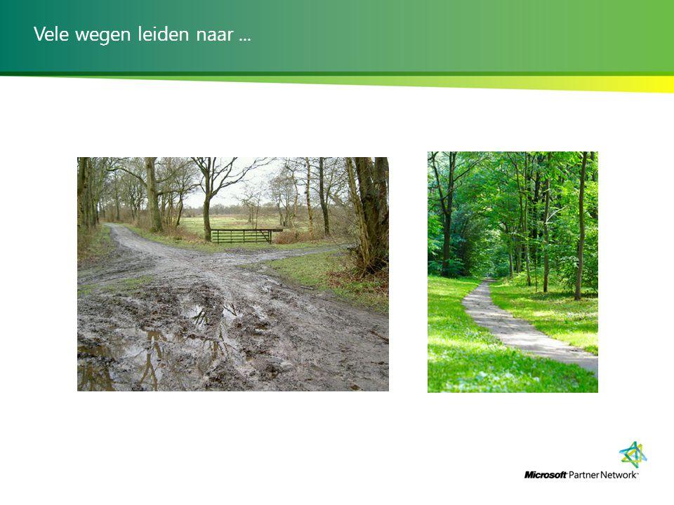 Vele wegen leiden naar...