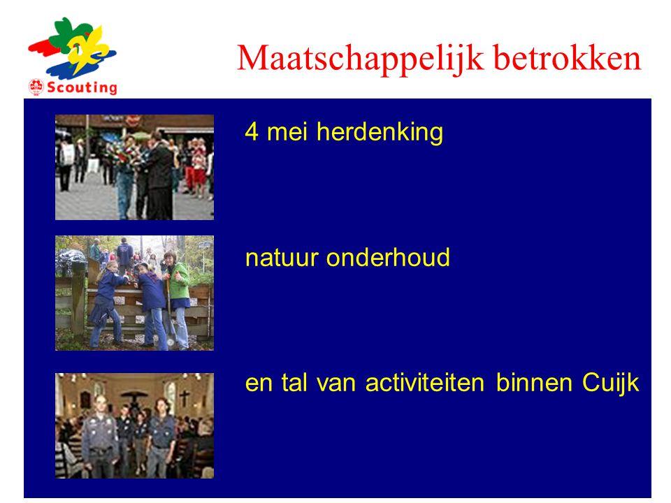 4 mei herdenking natuur onderhoud en tal van activiteiten binnen Cuijk Maatschappelijk betrokken