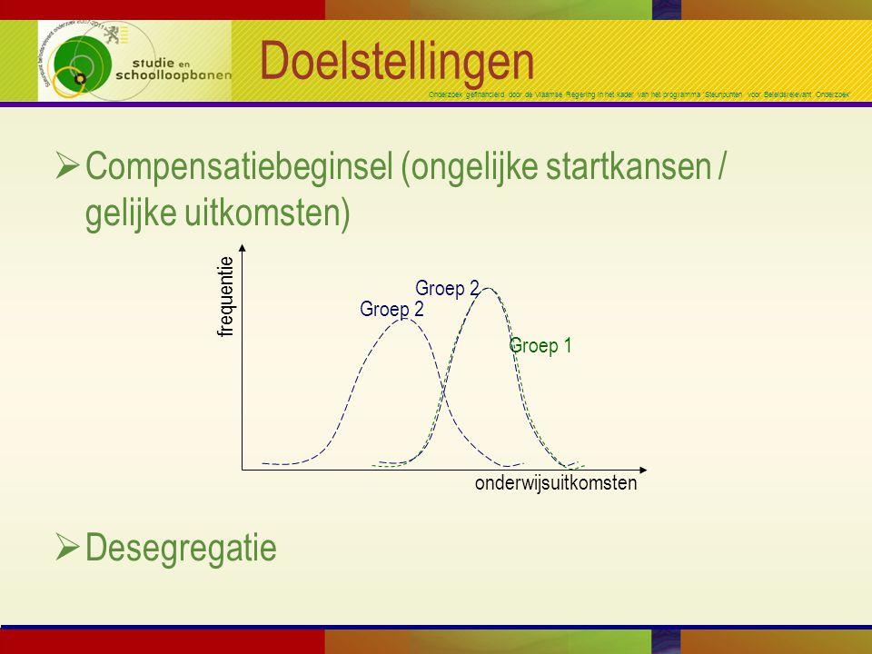 Onderzoek gefinancierd door de Vlaamse Regering in het kader van het programma 'Steunpunten voor Beleidsrelevant Onderzoek' Doelstellingen  Compensat