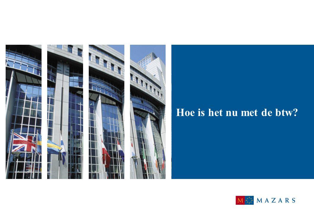 6 Intracommunautaire leveringen (1): Voorbeeld: Nederlandse ondernemer levert goederen van Nederland naar Duitsland:  geen btw, intracommunautaire levering niet belast in Nederland  intracommunautaire verwerving is belast in Duitsland