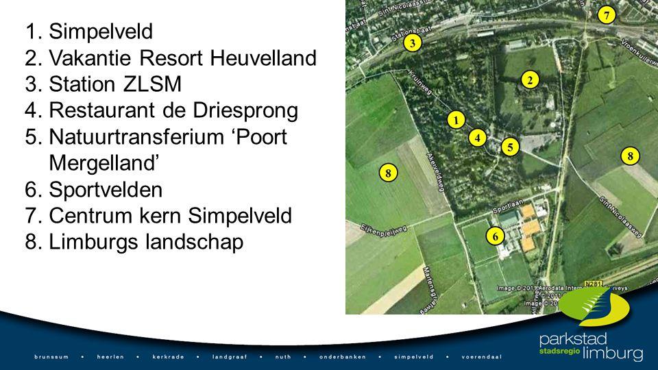 1. Simpelveld 2. Vakantie Resort Heuvelland 3. Station ZLSM 4.