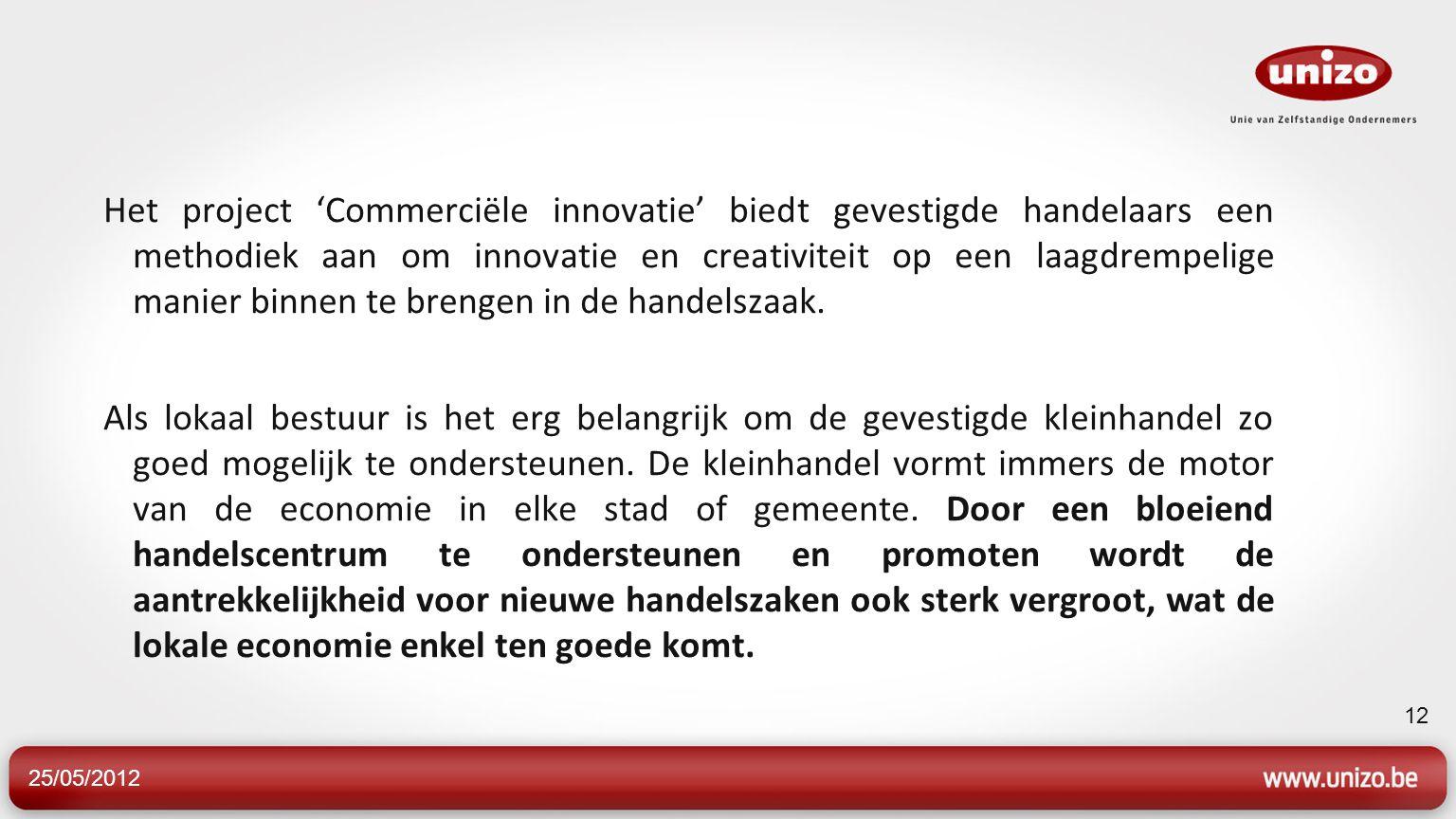 Het project 'Commerciële innovatie' biedt gevestigde handelaars een methodiek aan om innovatie en creativiteit op een laagdrempelige manier binnen te brengen in de handelszaak.