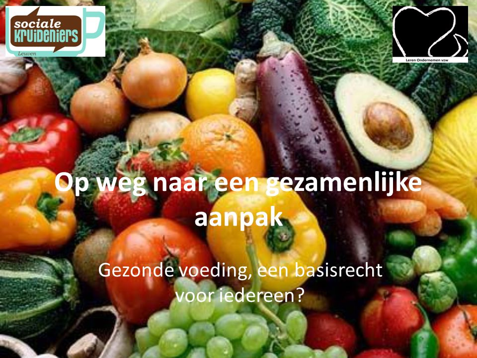 Op weg naar een gezamenlijke aanpak Gezonde voeding, een basisrecht voor iedereen?