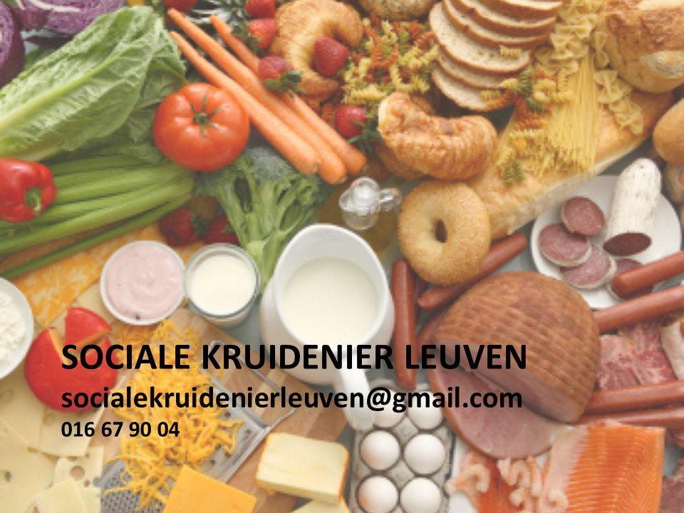 SOCIALE KRUIDENIER LEUVEN socialekruidenierleuven@gmail.com 016 67 90 04