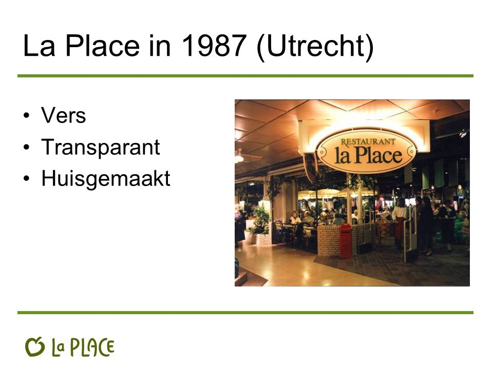 La Place in 1987 (Utrecht) Vers Transparant Huisgemaakt