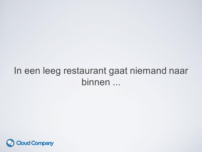 In een leeg restaurant gaat niemand naar binnen...
