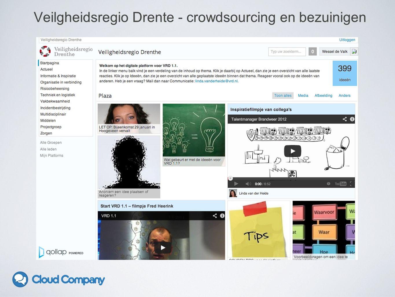 Veilgheidsregio Drente - crowdsourcing en bezuinigen
