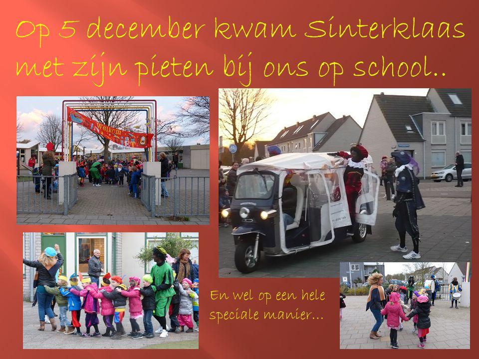 Op 5 december kwam Sinterklaas met zijn pieten bij ons op school.. En wel op een hele speciale manier…