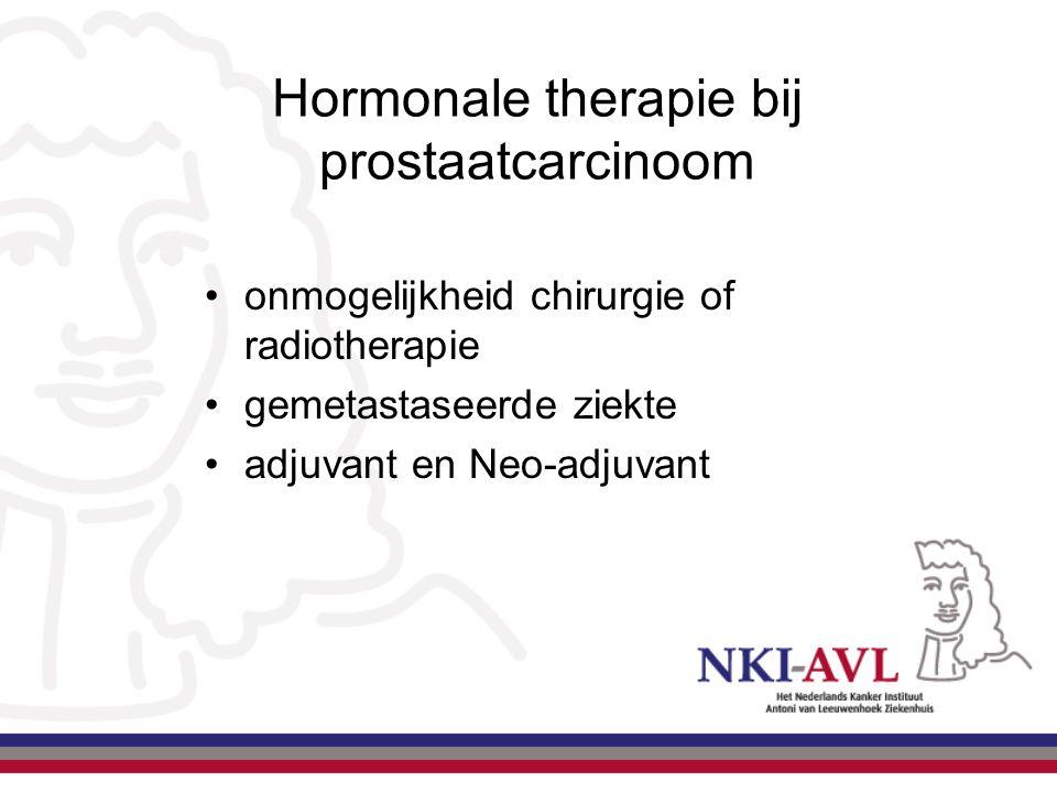 Hormonale therapie bij prostaatcarcinoom onmogelijkheid chirurgie of radiotherapie gemetastaseerde ziekte adjuvant en Neo-adjuvant