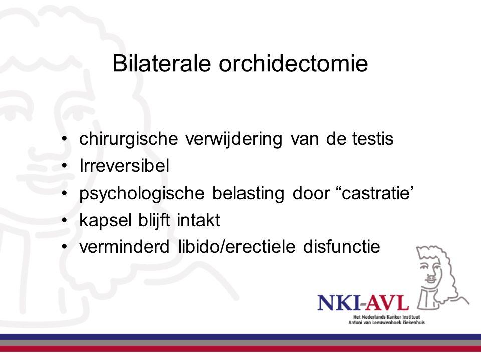 """Bilaterale orchidectomie chirurgische verwijdering van de testis Irreversibel psychologische belasting door """"castratie' kapsel blijft intakt verminder"""