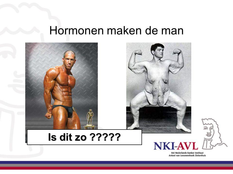 Hormonen maken de man Is dit zo ?????