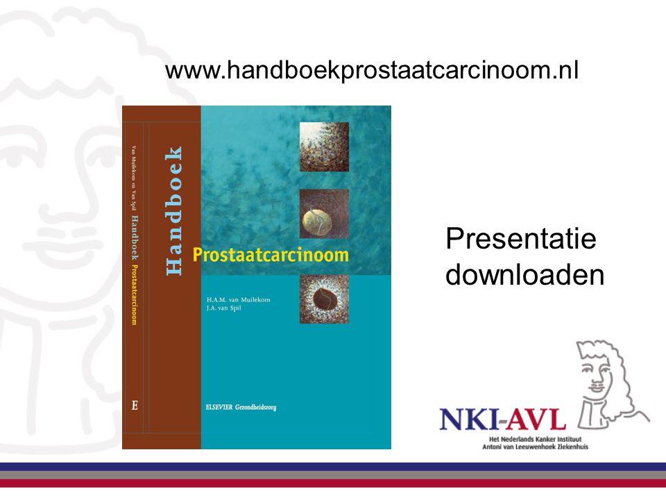 www.handboekprostaatcarcinoom.nl Presentatie downloaden