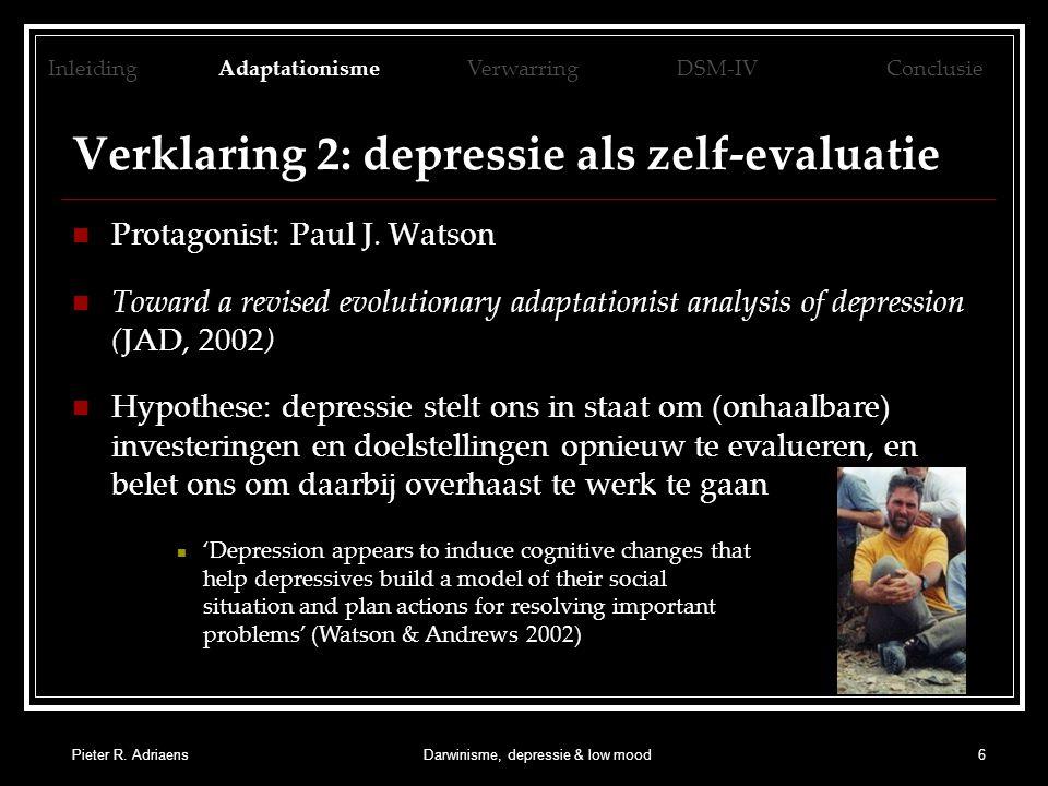 Pieter R.AdriaensDarwinisme, depressie & low mood17 5.