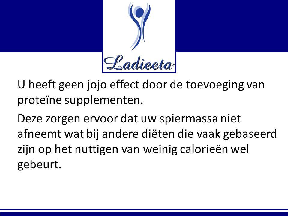 U heeft geen jojo effect door de toevoeging van proteïne supplementen.