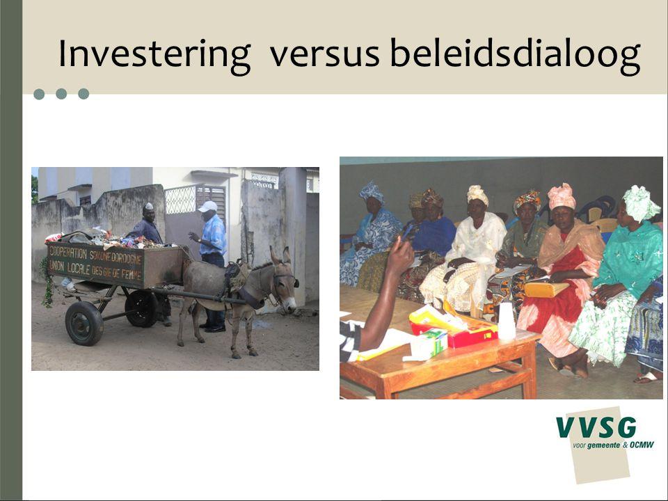 Investering versus beleidsdialoog