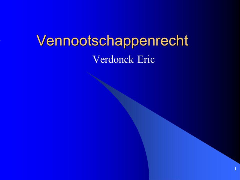 1 Vennootschappenrecht Verdonck Eric