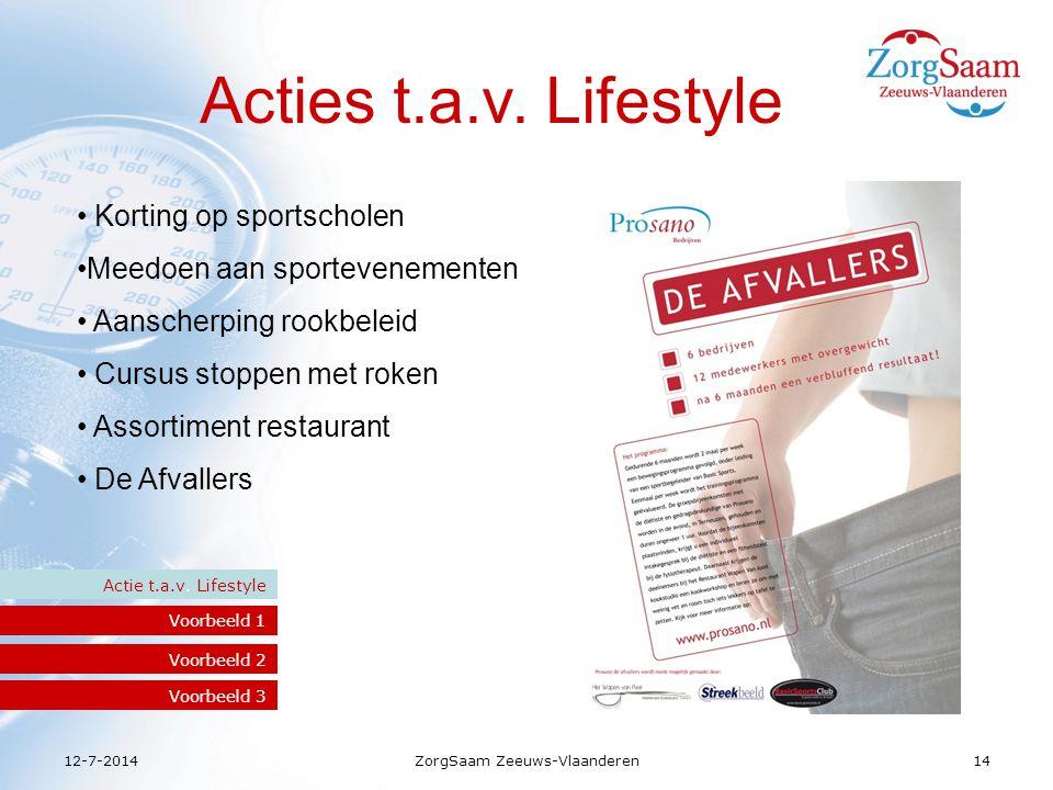 12-7-2014ZorgSaam Zeeuws-Vlaanderen14 Acties t.a.v.