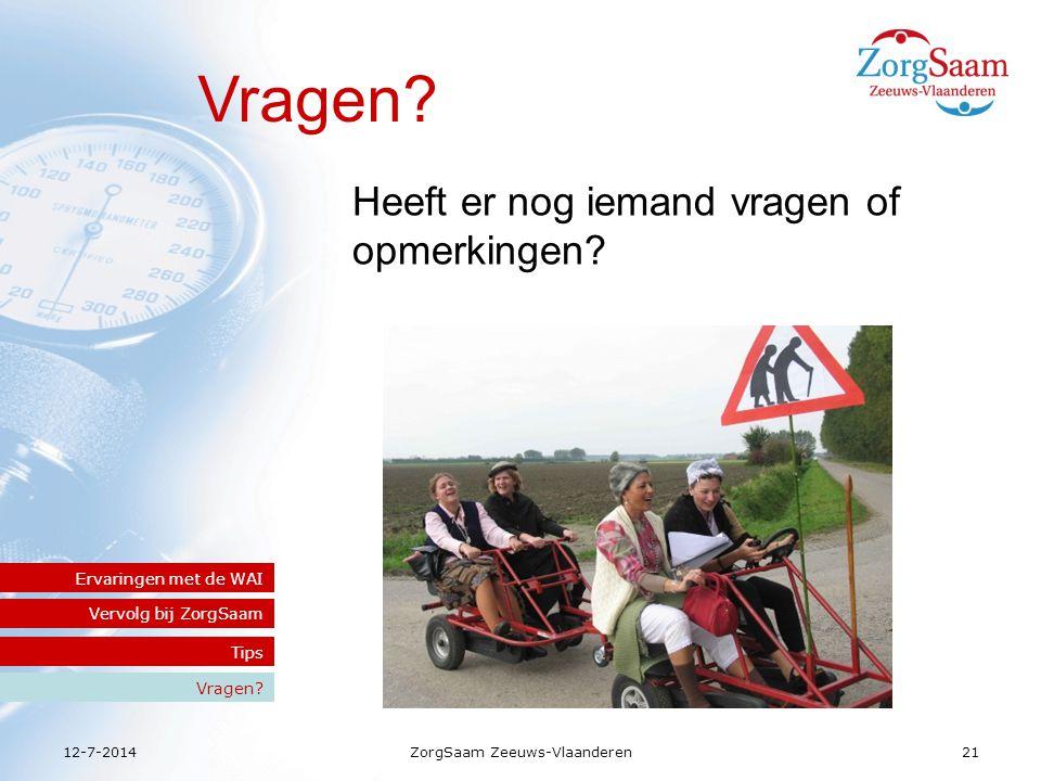 12-7-2014ZorgSaam Zeeuws-Vlaanderen21 Vragen.