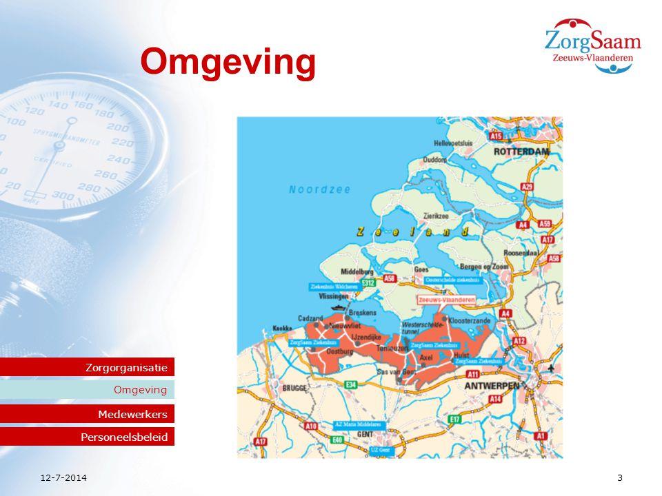 12-7-2014ZorgSaam Zeeuws-Vlaanderen4 Medewerkers Omgeving Zorgorganisatie Medewerkers Personeelsbeleid 3000 medewerkers Honkvast Gemiddelde leeftijd stijgt