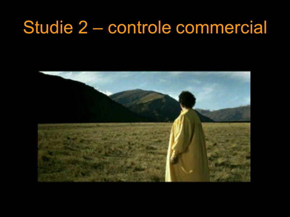 Studie 2 – controle commercial