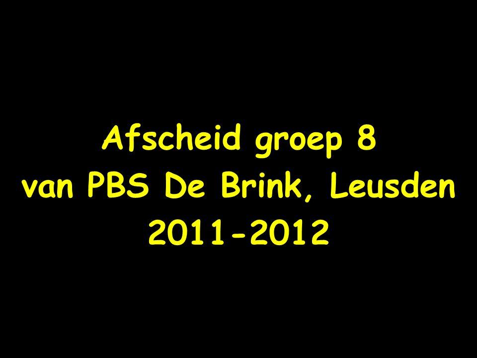 Fotoalbum Afscheid groep 8 van PBS De Brink, Leusden 2011-2012