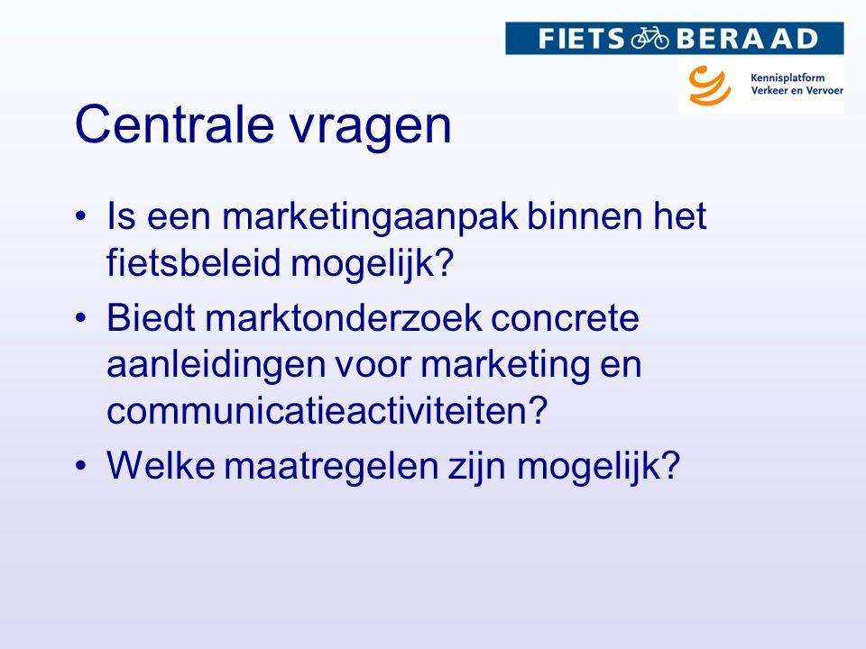 Centrale vragen Is een marketingaanpak binnen het fietsbeleid mogelijk.