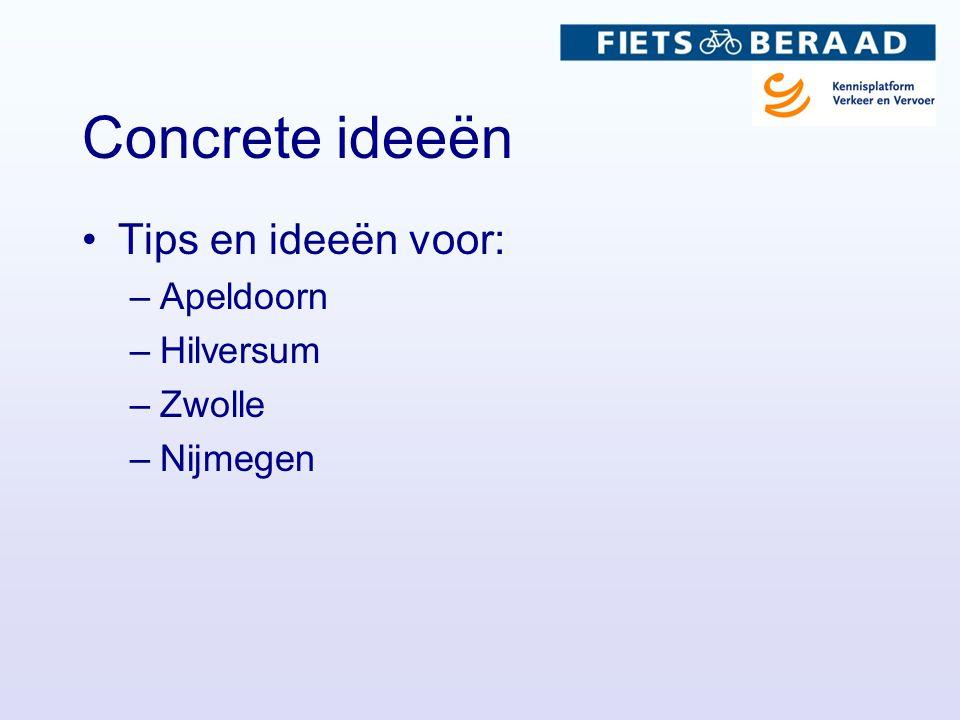 Tips en ideeën voor: –Apeldoorn –Hilversum –Zwolle –Nijmegen