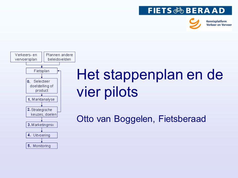 Het stappenplan en de vier pilots Otto van Boggelen, Fietsberaad