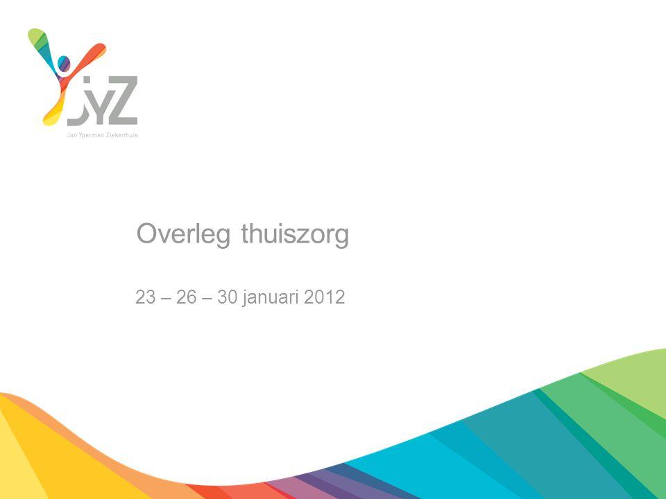 Overleg thuiszorg 23 – 26 – 30 januari 2012