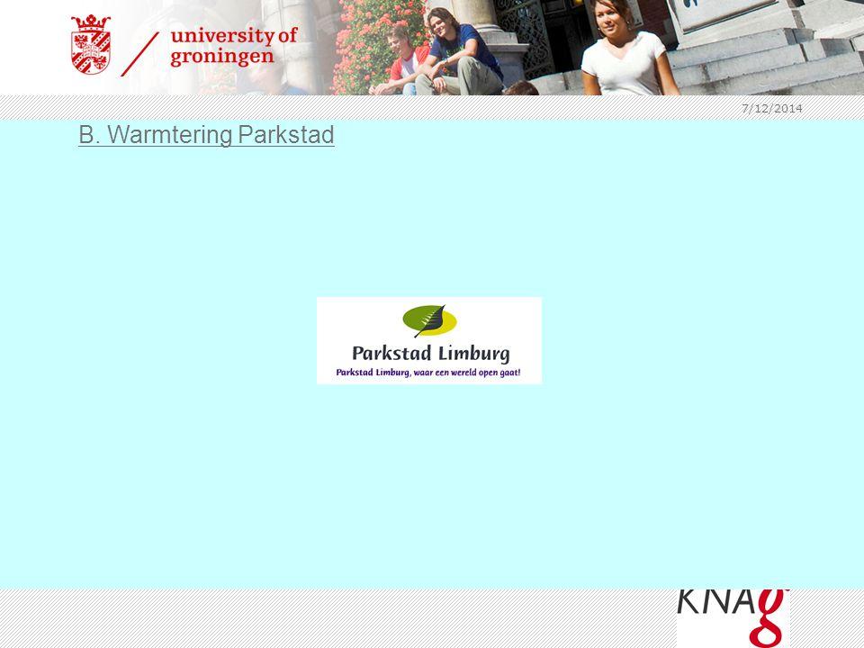 7/12/2014 B. Warmtering Parkstad