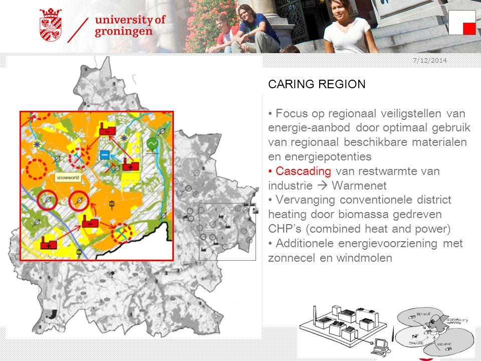 7/12/2014 CARING REGION Focus op regionaal veiligstellen van energie-aanbod door optimaal gebruik van regionaal beschikbare materialen en energiepoten
