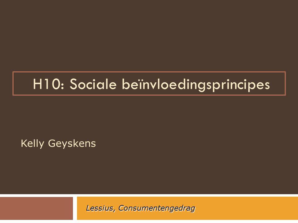 Sociale beïnvloedingsprincipes  7 sleutelprincipes 1.