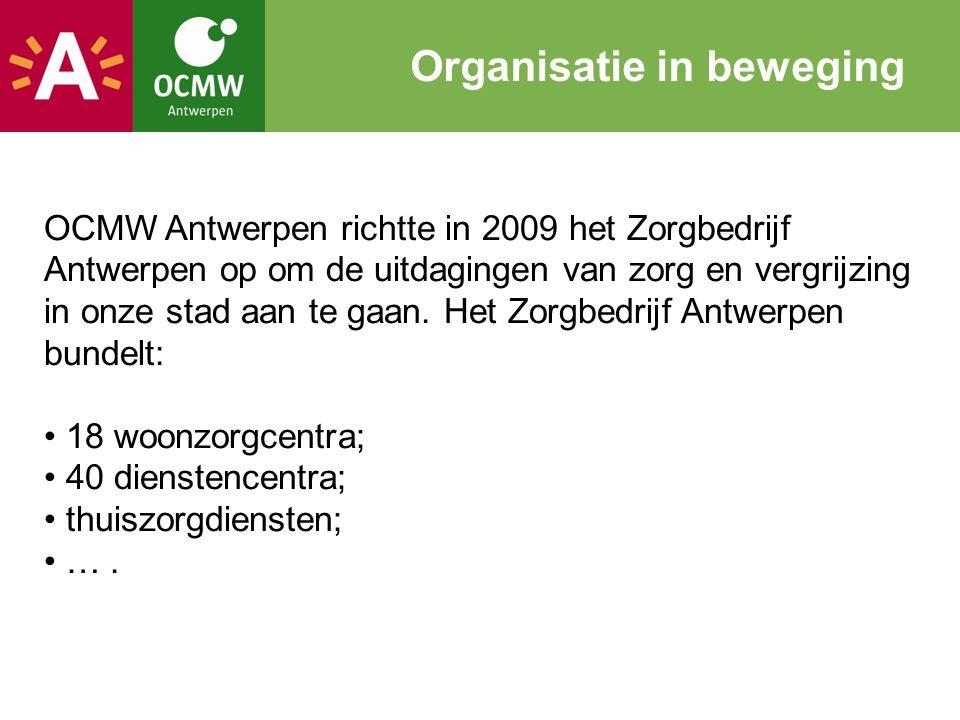 OCMW Antwerpen richtte in 2009 het Zorgbedrijf Antwerpen op om de uitdagingen van zorg en vergrijzing in onze stad aan te gaan. Het Zorgbedrijf Antwer