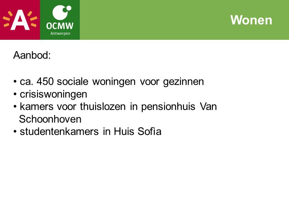 Aanbod: ca. 450 sociale woningen voor gezinnen crisiswoningen kamers voor thuislozen in pensionhuis Van Schoonhoven studentenkamers in Huis Sofìa Wone