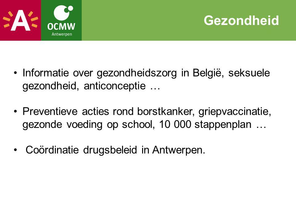 Informatie over gezondheidszorg in België, seksuele gezondheid, anticonceptie … Preventieve acties rond borstkanker, griepvaccinatie, gezonde voeding