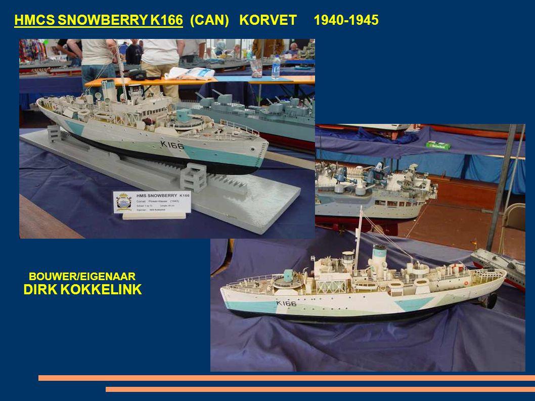 HMCS SNOWBERRY K166 (CAN) KORVET 1940-1945 BOUWER/EIGENAAR DIRK KOKKELINK
