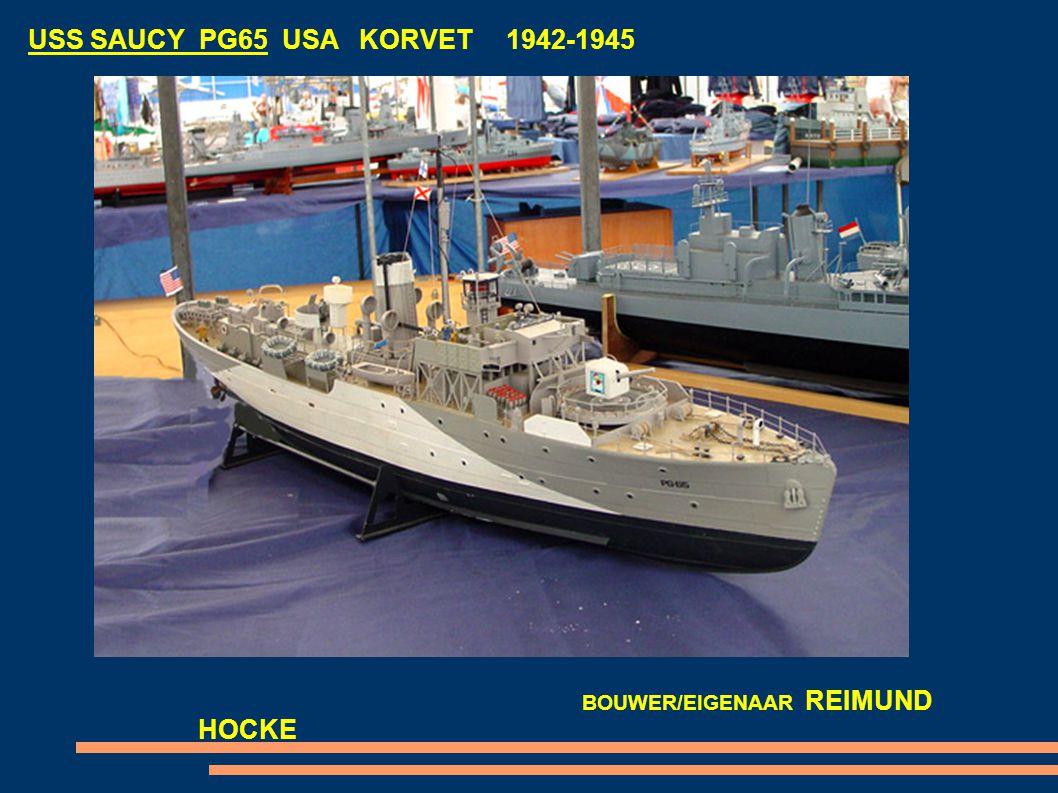 USS SAUCY PG65 USA KORVET 1942-1945 BOUWER/EIGENAAR REIMUND HOCKE