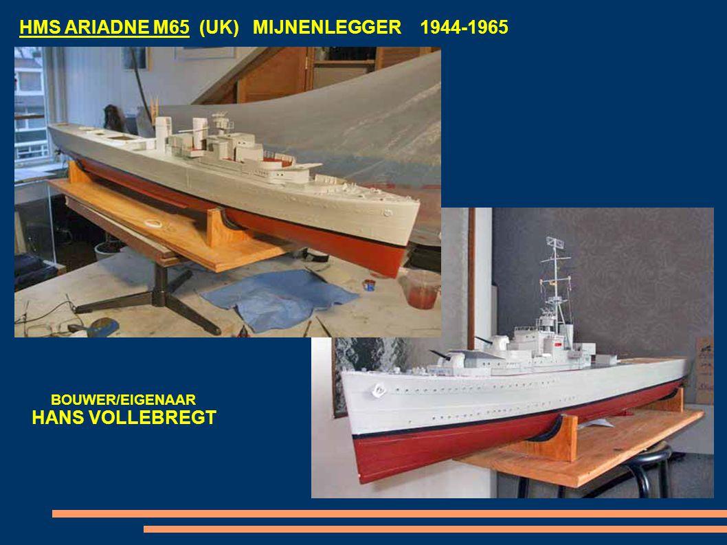 HMS ARIADNE M65 (UK) MIJNENLEGGER 1944-1965 BOUWER/EIGENAAR HANS VOLLEBREGT
