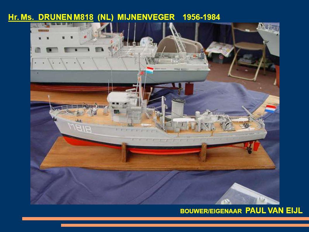 Hr. Ms. DRUNEN M818 (NL) MIJNENVEGER 1956-1984 BOUWER/EIGENAAR PAUL VAN EIJL