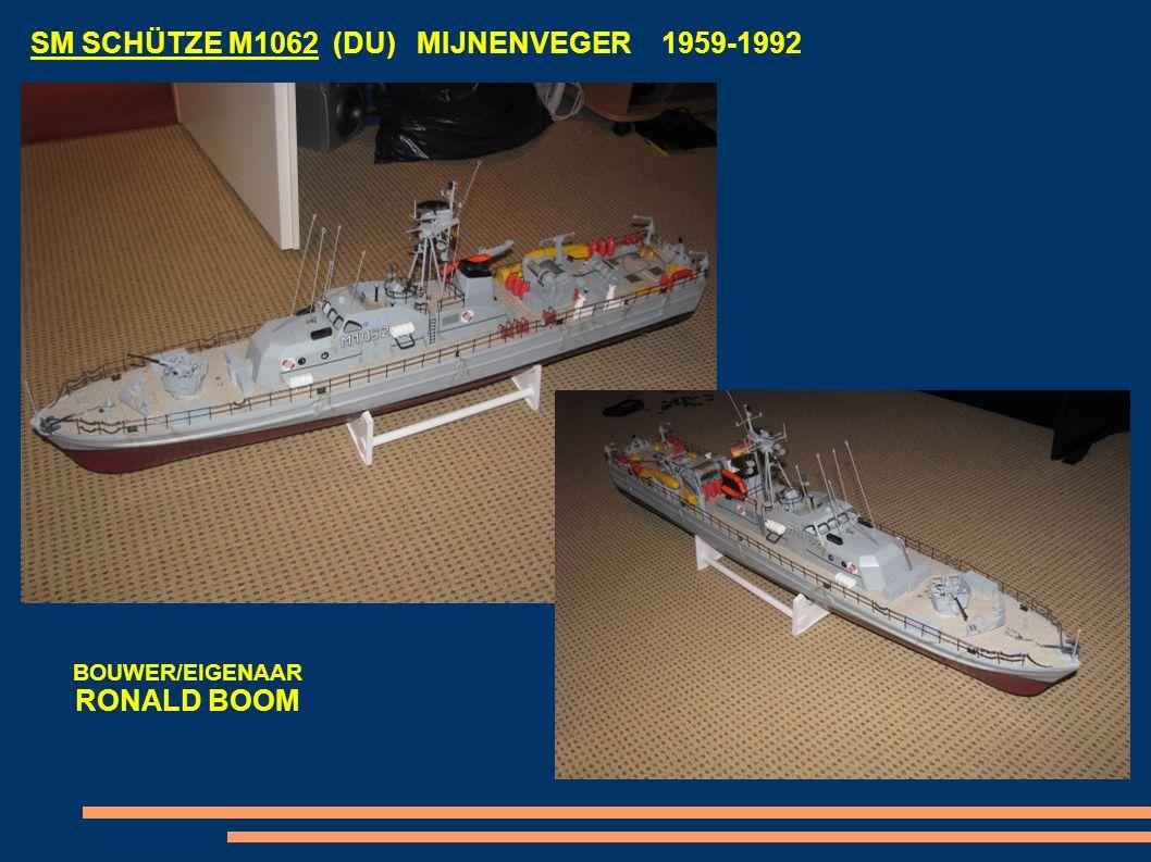 SM SCHÜTZE M1062 (DU) MIJNENVEGER 1959-1992 BOUWER/EIGENAAR RONALD BOOM