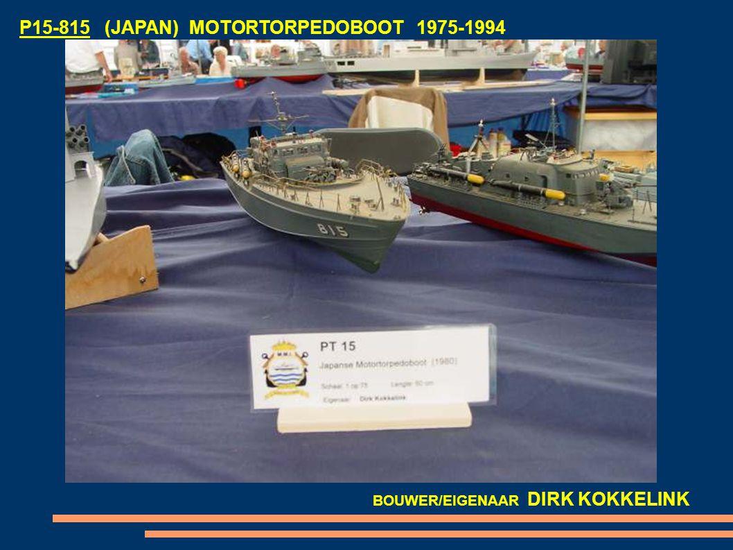 P15-815 (JAPAN) MOTORTORPEDOBOOT 1975-1994 BOUWER/EIGENAAR DIRK KOKKELINK